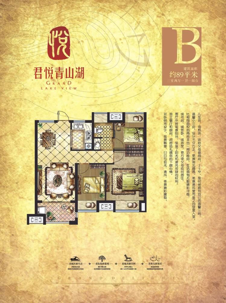 江西龙创房地产咨询有限责任公司 _君悦青山湖项目户型图
